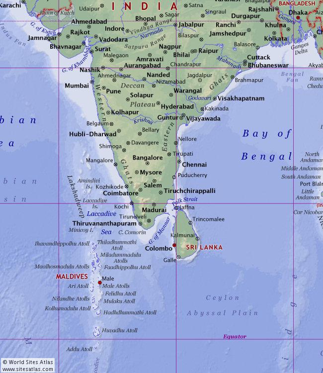 Physical World Atlas World Sites Atlas Sitesatlascom - Where is the maldives on the world map