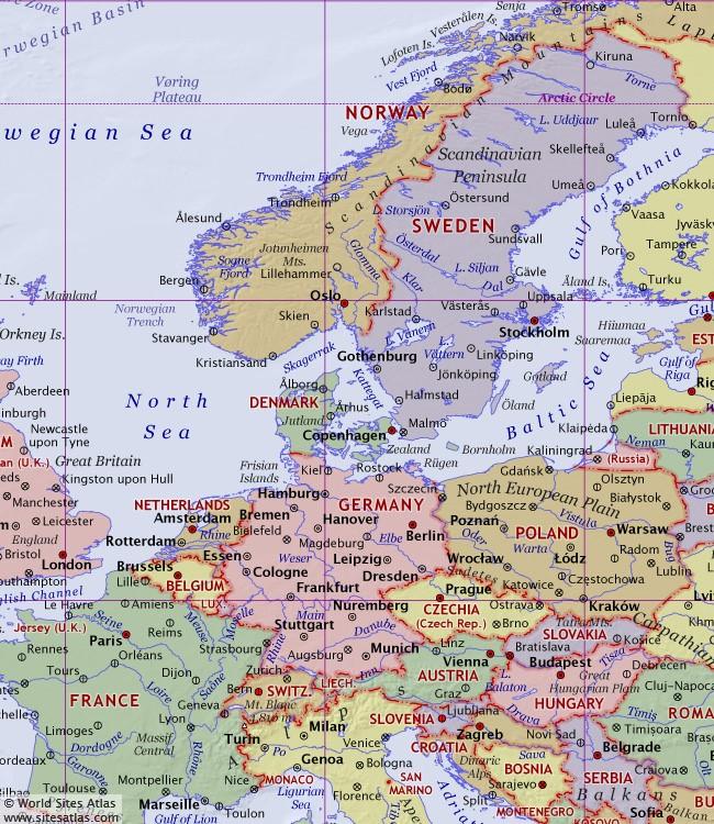 Political World Atlas World Sites Atlas Sitesatlascom - Norway map world atlas